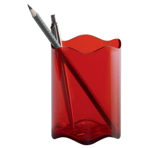 Stifteköcher Trend transl.rot DURABLE 1701235003 80mm D. Produktbild
