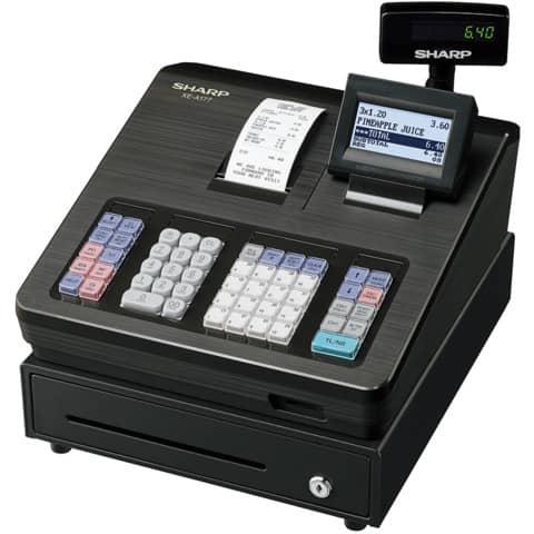 Registrierkasse elektrisch schwarz SHARP XEA177BK Produktbild Einzelbild 1 XL