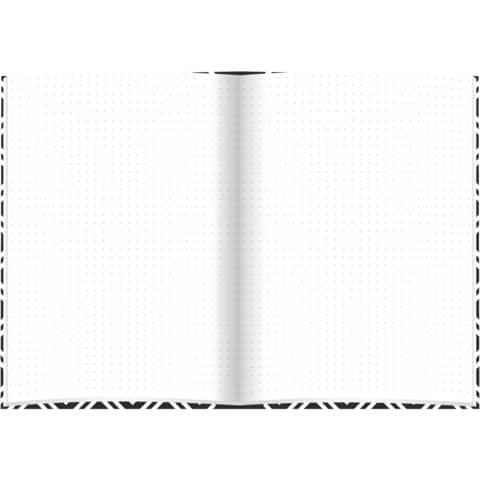 Notizbuch black&white rhombus RNK 46745 A5/96BL punktiert Produktbild Einzelbild 4 XL