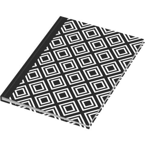 Notizbuch black&white rhombus RNK 46745 A5/96BL punktiert Produktbild Einzelbild 5 XL
