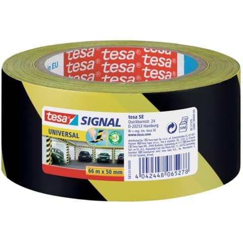 Markierungsband gelb/schwarz TESA 58133-00000-00 50mm 66m Produktbild