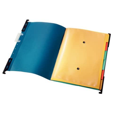 Hänge-Ordnungsmappe 6Fä. blau LEITZ 1890-00-35 Divide it Up Produktbild Einzelbild 2 XL