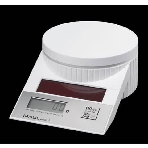 Briefwaage MAULtronic S 2000g weiß MAUL 15120 02 Solar Produktbild Einzelbild 2 XL