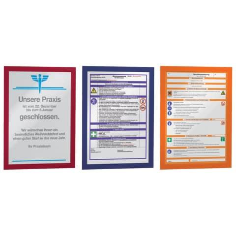 Magnetrahmen DURAFRAME® A4 DURABLE 4872 03 sk rot 2 Stück Produktbild Stammartikelabbildung XL
