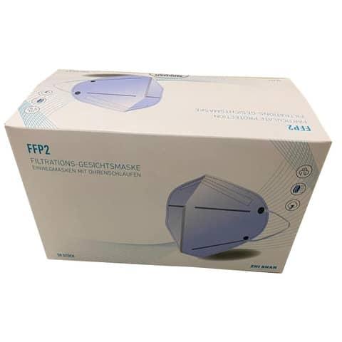 Atemschutzmaske FFP2 weiß 13529 ZHI SHAN 10217 CE2163 Produktbild Einzelbild 3 XL