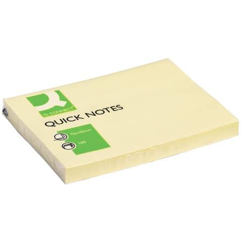 Haftnotizblock 76x102mm gelb Q-CONNECT KF01410 100BL Produktbild