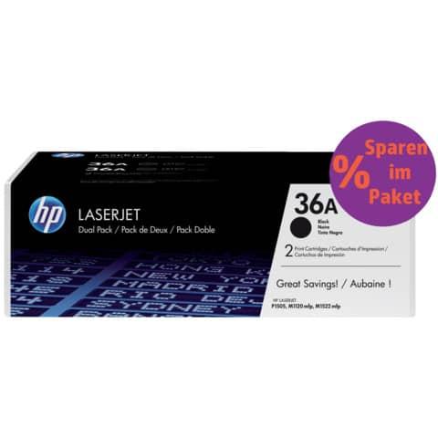 Lasertoner Nr. 36A schwarz HP CB436AD 2ST Produktbild Einzelbild 2 XL