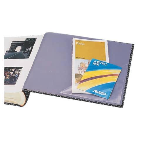 Dreiecktasche 75mm selbstklebend klar DURABLE 8081 19, 8 Stück Produktbild Anwendungsdarstellung XL