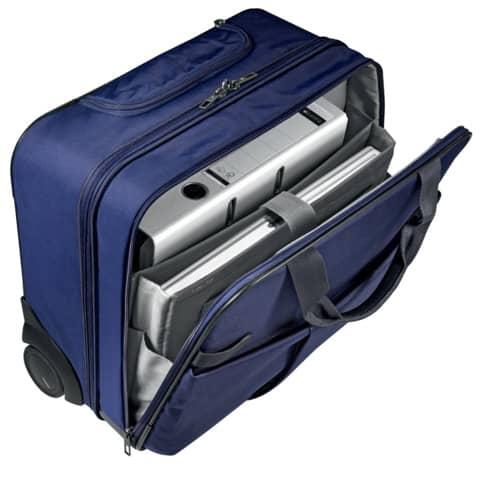 Trolley Complete titan blau LEITZ 6059-00-69 Handgepäck Produktbild Anwendungsdarstellung 6 XL