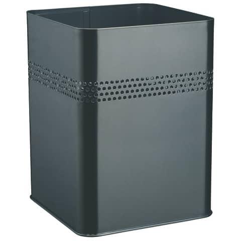 Papierkorb 18,5L schwarz eckig DURABLE 3320 01 Metall Produktbild