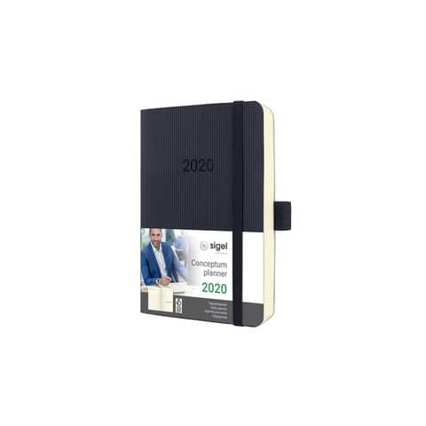 Buchkalender 2020 A6 schwarz SIGEL C2021 CONCEPTUM Produktbild Einzelbild 2 XL