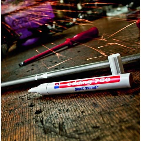 Lackmalstift 750 2-4mm gold EDDING 4-750053 Rundspitze Produktbild Anwendungsdarstellung XL