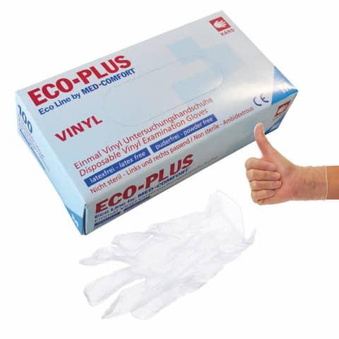 Handschuhe Vinyl M 100ST weiß ECO-PLUS 5 24 63 02 Produktbild