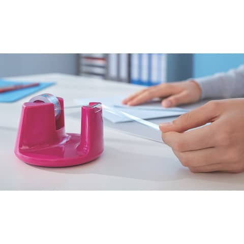 Tischabroller 19mm 33m pink TESA 53823-00000-01 EasyCut Produktbild Anwendungsdarstellung XL