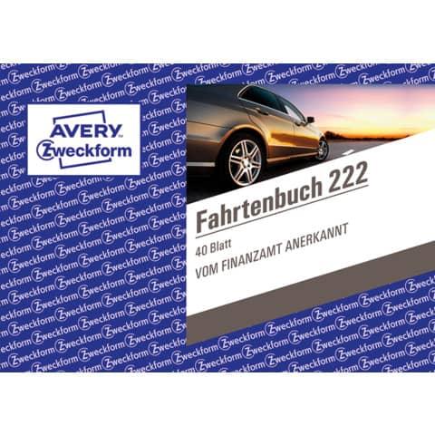 Fahrtenbuch PKW A6 quer, 40 Blatt ZWECKFORM 222 Produktbild