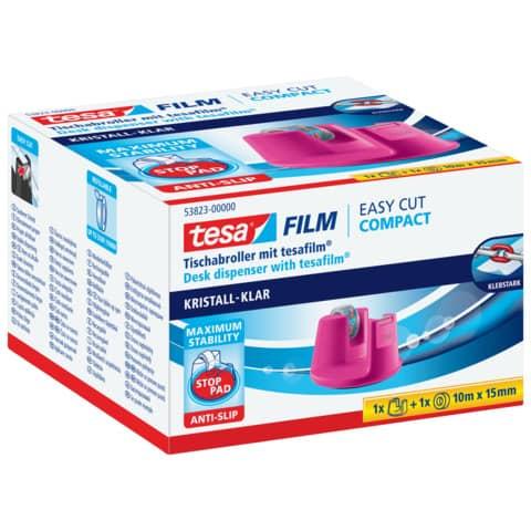 Tischabroller 19mm 33m pink TESA 53823-00000-01 EasyCut Produktbild Einzelbild 2 XL
