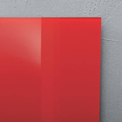 Magnettafel Glas rot SIGEL GL114 480x480x15mm Produktbild Detaildarstellung 2 XL