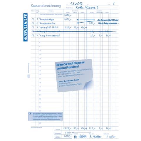 Kassenbuch A4 hoch, 2x50 Blatt ZWECKFORM 427 Produktbild Detaildarstellung 2 XL