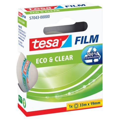 Klebefilm 19mm 33m transparent TESA 57043-00000-01 Eco & Clear Produktbild Einzelbild 4 XL