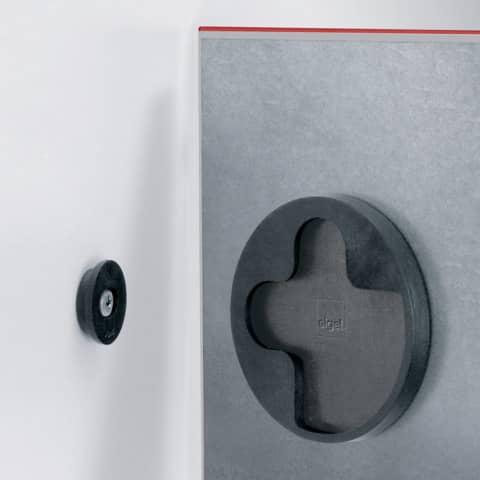 Magnettafel Glas rot SIGEL GL114 480x480x15mm Produktbild Detaildarstellung XL