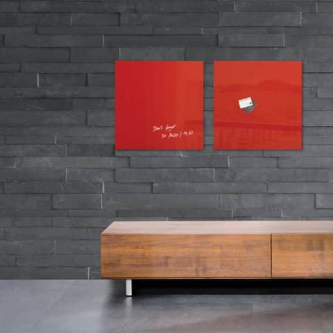 Magnettafel Glas rot SIGEL GL114 480x480x15mm Produktbild Produktabbildung aufbereitet 2 XL