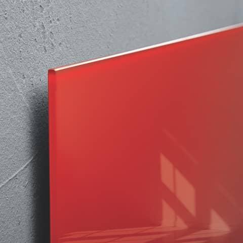 Magnettafel Glas rot SIGEL GL114 480x480x15mm Produktbild Detaildarstellung 4 XL