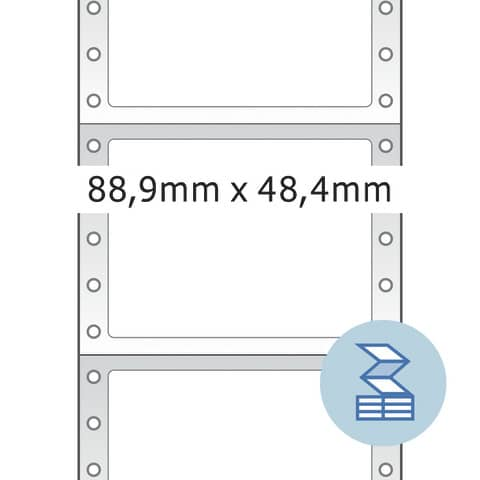 Endlosetikett 88,9x48,4 HERMA 8204 Produktbild Detaildarstellung XL