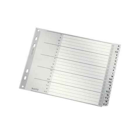 Register A4 A-Z grau 20tlg. LEITZ 12620000 Plastik überbr. Produktbild Einzelbild 1 XL