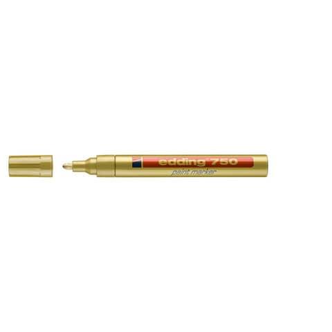 Lackmalstift 750 2-4mm gold EDDING 4-750053 Rundspitze Produktbild Einzelbild 2 XL