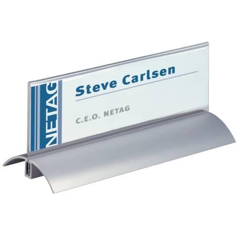 Tischnamensschild transparent 2 Stück DURABLE 8202 19 61x210mm Produktbild