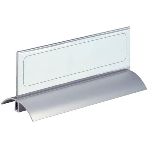 Tischnamensschild transparent 2 Stück DURABLE 8202 19 61x210mm Produktbild Einzelbild 2 XL