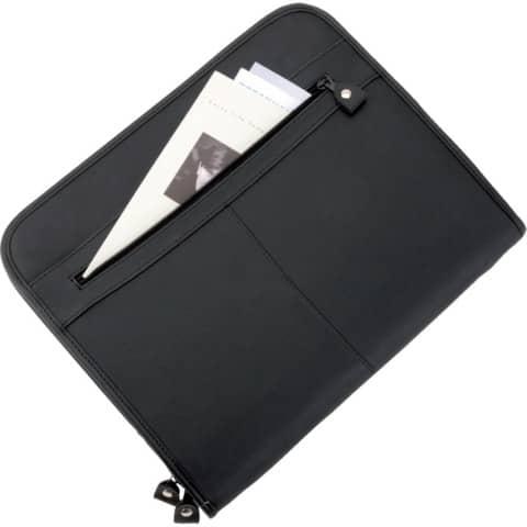 Schreibmappe Milano A4 schwarz ALASSIO 30042 Produktbild