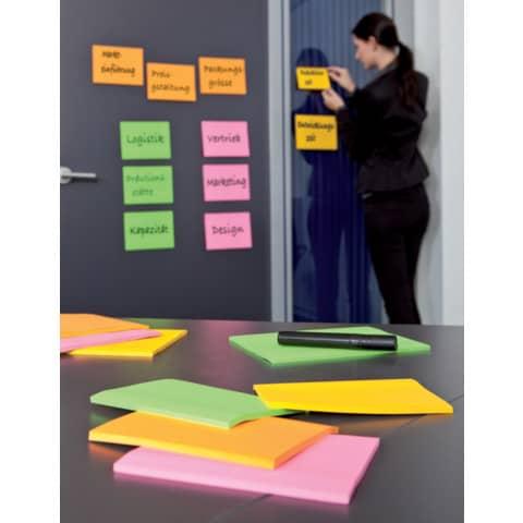 Haftnotizblock 210x149 Neon POST IT 6845-SS EU 4 Stück Produktbild Produktabbildung aufbereitet 3 XL