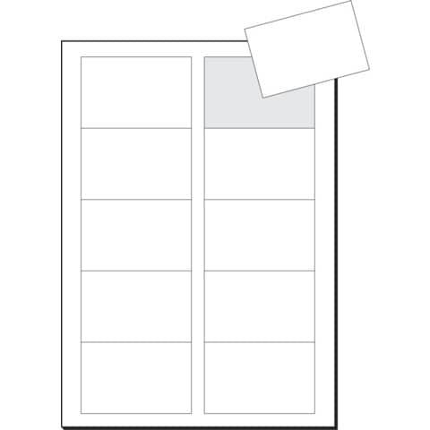Visitenkarte A4 100st Weiß Sigel Lp795 225g 10bl
