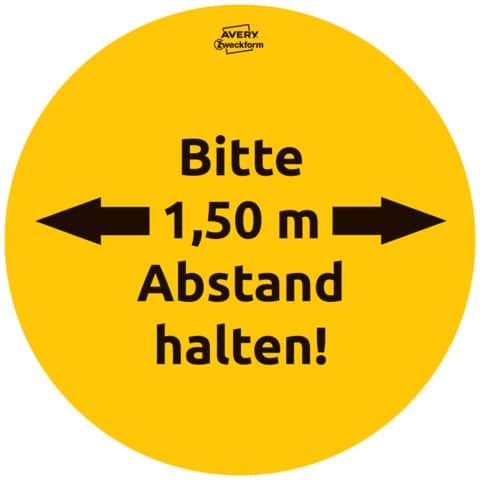 Hinweisetiketten Corona Schilderset gelb AVERY ZWECKFORM 49401 Gastro 12ST Produktbild Detaildarstellung 2 XL