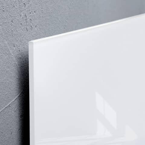 Magnettafel 100x100cm weiß SIGEL GL201 artverumXL Produktbild Detaildarstellung XL