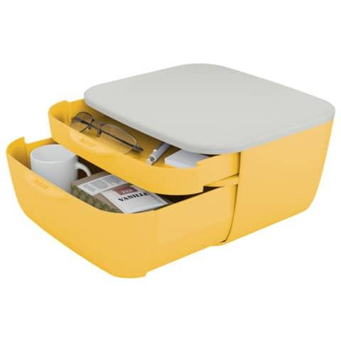 Schubladenbox Cosy 2 Laden gelb/hellgrau LEITZ 5357-00-19 Produktbild Einzelbild 3 XL
