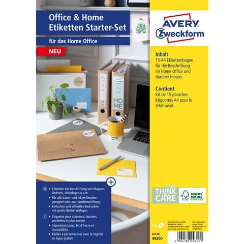 Universaletiketten Office&Home sortiert AVERY ZWECKFOM 49300 Produktbild Produktdatenblatt XL