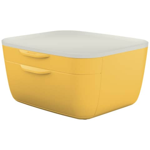Schubladenbox Cosy 2 Laden gelb/hellgrau LEITZ 5357-00-19 Produktbild Einzelbild 2 XL