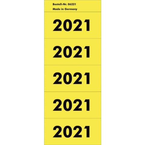Inhaltsschildchen 2021 100 Stück gelb NEUTRAL 6221 Produktbild