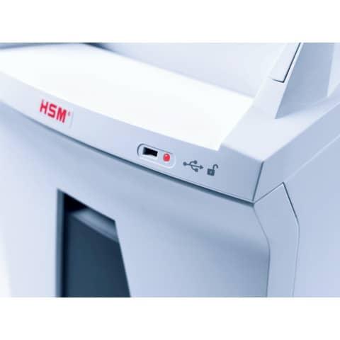 Aktenvernichter Securio AF300 weiß HSM 2092111 Partikel 1,9x15mm Produktbild Detaildarstellung XL