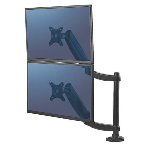 Bildschirmträger Doppelarm schwarz FELLOWES FW8043401 Produktbild Anwendungsdarstellung 3 XL