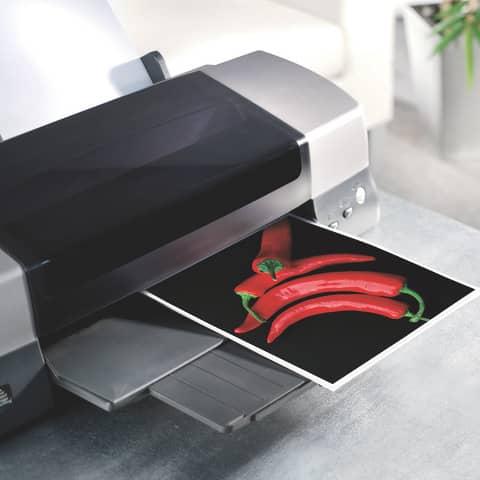 Inkjet Fotopapier A4 50 Blatt glossy SIGEL IP601 170g Produktbild Anwendungsdarstellung XL