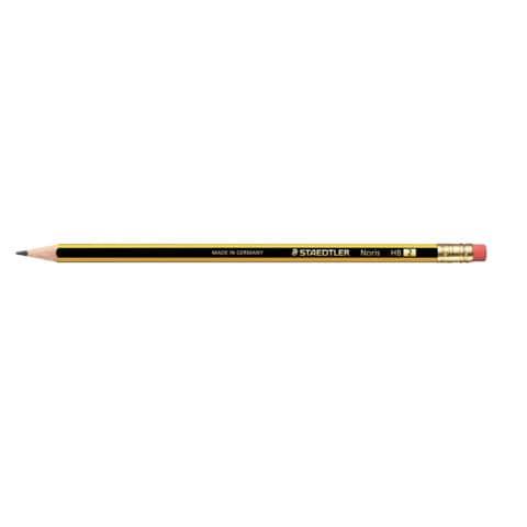 Bleistift Noris HB STAEDTLER 122-2 mit Radierer Produktbild