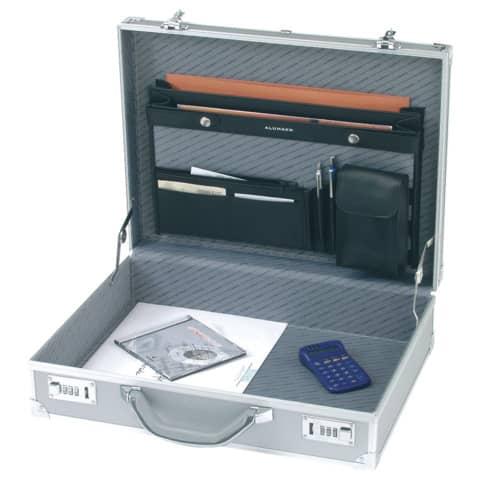Aktenkoffer Alu Octan silber Alumaxxx 45103 45x34x12/45114 Produktbild
