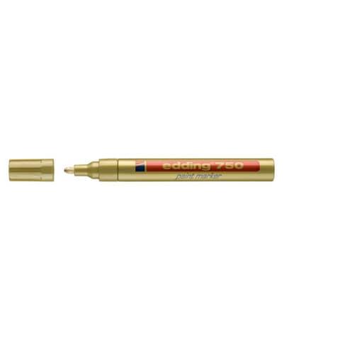 Lackmalstift 750 2-4mm gold EDDING 4-750053 Rundspitze Produktbild Einzelbild 3 XL