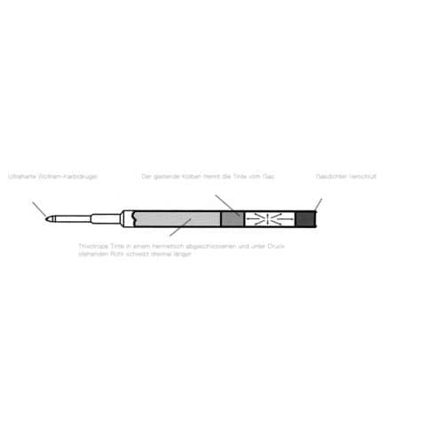 Kugelschreiber Spacetec stahl DIPLOMAT D90101775 Druckmechanik Produktbild Detaildarstellung XL