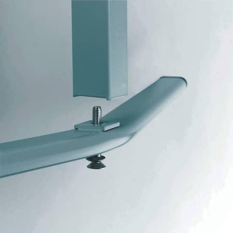 Moderatorentafel grau 120x150 cm LEGAMASTER 7-204500 Filzbezug Produktbild Detaildarstellung XL