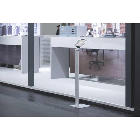 Tablethalter Floor silber DURABLE 8932-23 Bodenständer Produktbild Produktabbildung aufbereitet XL