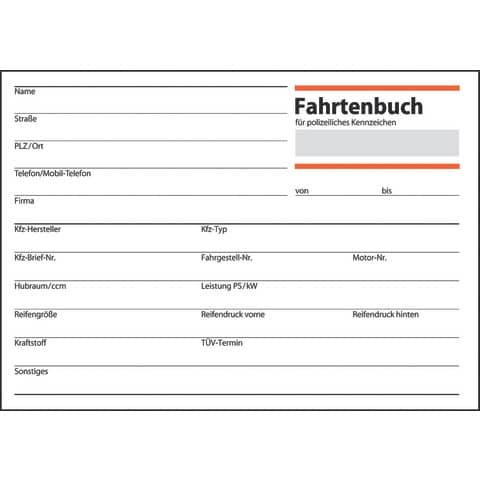 Fahrtenbuch PKW A6 40BL SIGEL FA614 A6q 40BL Produktbild Einzelbild 3 XL
